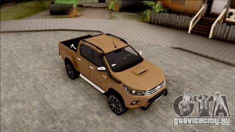 Toyota Hilux 2017 для GTA San Andreas вид справа