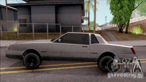 GTA IV Declasse Sabre для GTA San Andreas вид слева