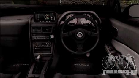 Nissan Skyline GT-R R34 для GTA San Andreas вид изнутри