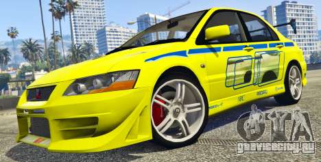 Mitsubishi Lancer Evolution VII 1.1 для GTA 5