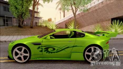 Aston Martin V8 Vantage Tuning Sin Sonido для GTA San Andreas вид слева