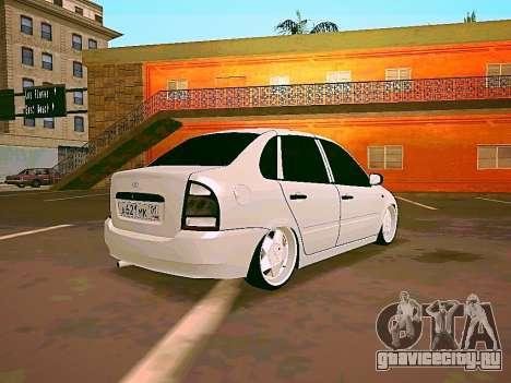 Lada Kalina White для GTA San Andreas вид слева