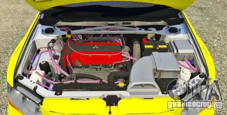 Mitsubishi Lancer Evolution VII 1.1 для GTA 5 вид сзади слева