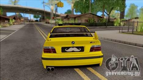 BMW M3 E36 BKworks для GTA San Andreas вид сзади слева