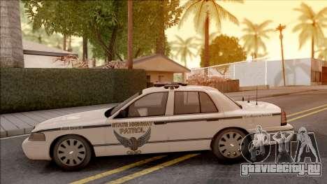 Ford Crown Victoria 2010 OS Highway Patrol для GTA San Andreas вид слева