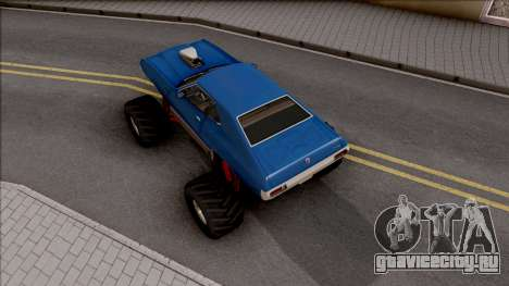Chevrolet Chevelle SS 1972 Monster Truck для GTA San Andreas вид сзади