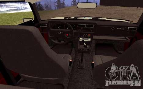 VAZ 2107 GVR V2 для GTA San Andreas вид изнутри