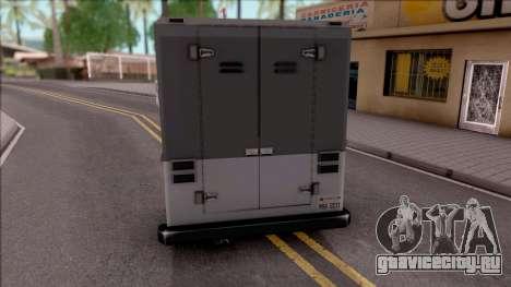 UPS Van для GTA San Andreas вид сзади слева
