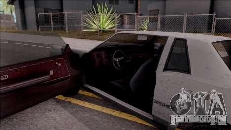 GTA IV Declasse Sabre для GTA San Andreas вид изнутри