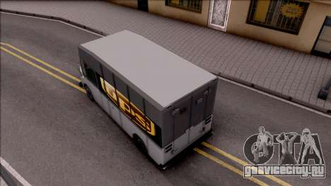 UPS Van для GTA San Andreas вид сзади