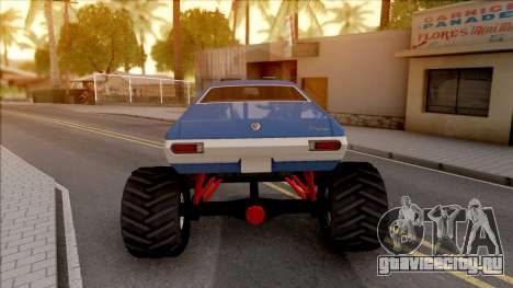 Chevrolet Chevelle SS 1972 Monster Truck для GTA San Andreas вид сзади слева