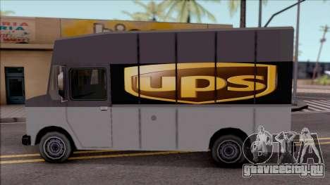 UPS Van для GTA San Andreas вид слева