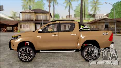 Toyota Hilux 2017 для GTA San Andreas вид слева