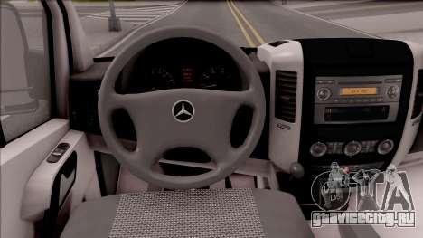 Mercedes-Benz Sprinter Transporter для GTA San Andreas вид изнутри