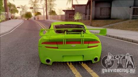 Aston Martin V8 Vantage Tuning Sin Sonido для GTA San Andreas вид сзади слева