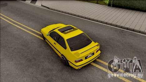 BMW M3 E36 BKworks для GTA San Andreas вид сзади