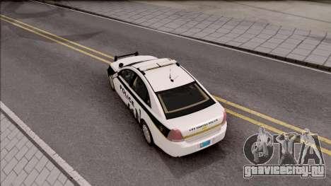 Chevrolet Caprice 2013 Los Santos PD v2 для GTA San Andreas вид сзади