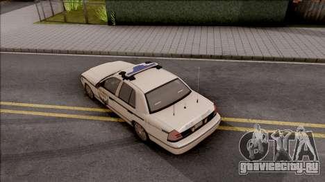 Ford Crown Victoria 2010 OS Highway Patrol для GTA San Andreas вид сзади
