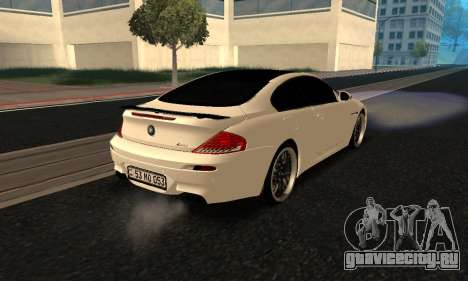 BMW M6 E63 Armenian для GTA San Andreas вид сзади слева