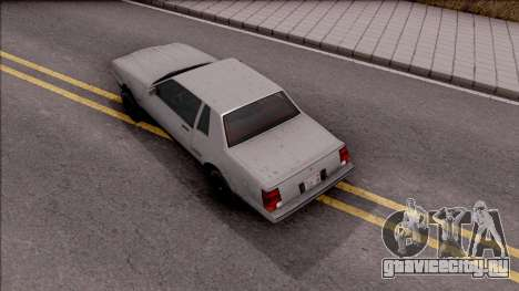 GTA IV Declasse Sabre для GTA San Andreas вид сзади