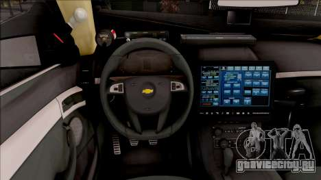 Chevrolet Caprice 2013 Los Santos PD v2 для GTA San Andreas вид изнутри