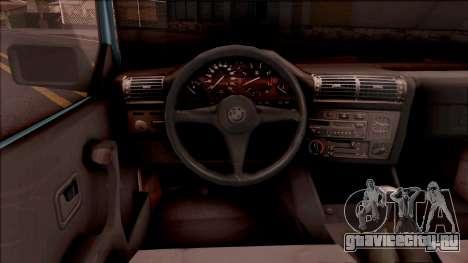 BMW 325i E30 Touring для GTA San Andreas вид изнутри