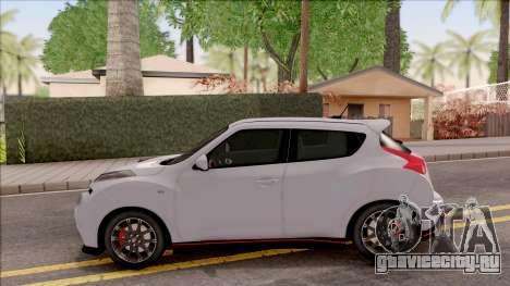 Nissan Juke Nismo RS 2014 v2 для GTA San Andreas вид слева
