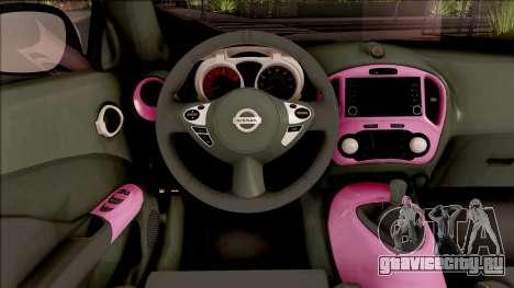 Nissan Juke Nismo RS 2014 v2 для GTA San Andreas вид изнутри