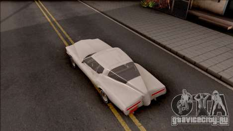 Buick Riviera 1972 Boattail Lowrider Gray для GTA San Andreas вид сзади
