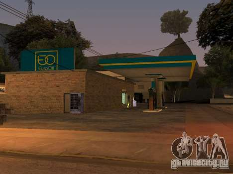 EuroOil Gas Station для GTA San Andreas второй скриншот