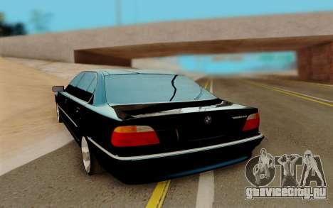 BMW 750 для GTA San Andreas вид сзади слева