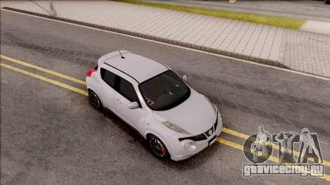 Nissan Juke Nismo RS 2014 v2 для GTA San Andreas вид справа