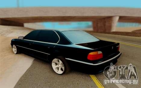 BMW 750 для GTA San Andreas вид справа
