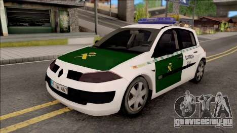 Renault Megane Guardia Civil Spanish для GTA San Andreas