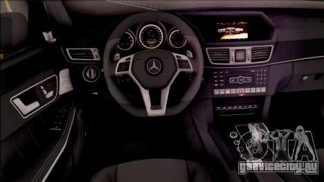 Mercedes-Benz E63 AMG v2 для GTA San Andreas вид изнутри