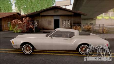 Buick Riviera 1972 Boattail Lowrider Gray для GTA San Andreas вид слева