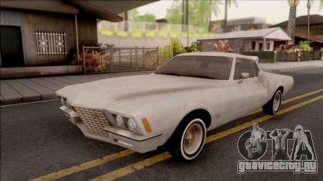Buick Riviera 1972 Boattail Lowrider Gray для GTA San Andreas