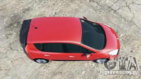 Renault Scenic (JZ) 2009 [replace] для GTA 5 вид сзади