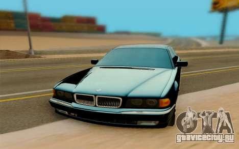 BMW 750 для GTA San Andreas вид сзади