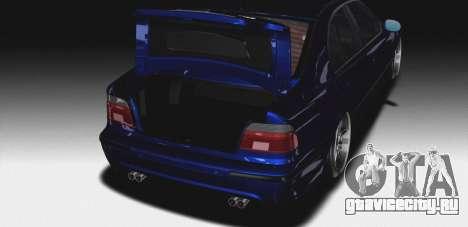 BMW M5 E39 (2017 re-styling) для GTA San Andreas вид снизу