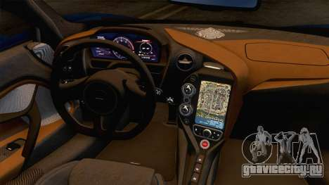 McLaren 720S 2017 v2 для GTA San Andreas вид изнутри