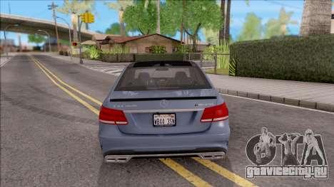 Mercedes-Benz E63 AMG v2 для GTA San Andreas вид сзади слева