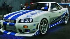 Nissan Skyline GT-R34 3.0 для GTA 5