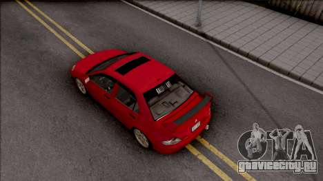 Mitsubishi Lancer Ralliart 2007 для GTA San Andreas вид сзади