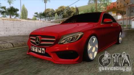 Mercedes-Benz C250 Stance для GTA San Andreas вид сзади слева