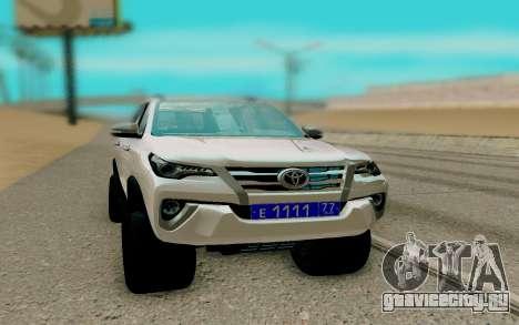 Toyota Forturner 2017 для GTA San Andreas