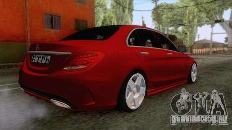 Mercedes-Benz C250 Stance для GTA San Andreas вид слева