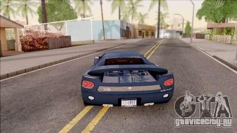 Infernus from GTA III HD для GTA San Andreas вид сзади слева