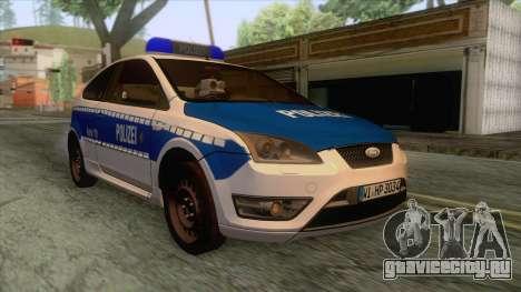 Ford Focus ST Polizei Hessen для GTA San Andreas