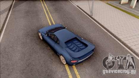 Infernus from GTA III HD для GTA San Andreas вид сзади